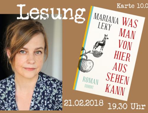 Lesung! Mariana Leky: Was man von hier aus sehen kann