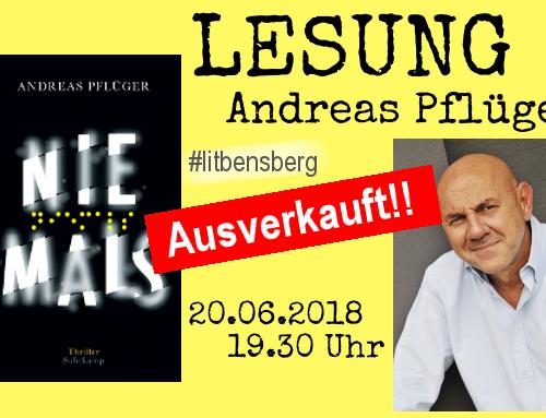 Die Lesung mit Andreas Pflüger ist ausverkauft.
