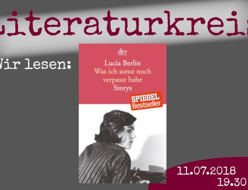 Literaturkreis! Wir lesen: Lucia Berlin