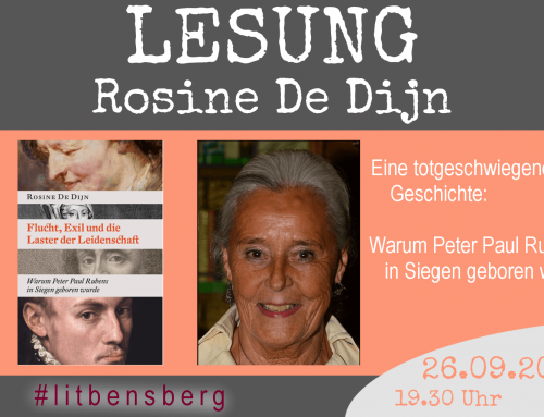 Lesung! Rosine De Dijn