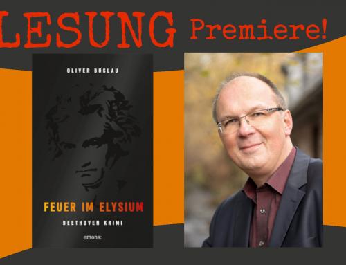 Premierenlesung! Oliver Buslau: Feuer im Elysium