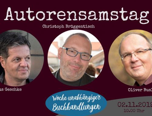 Autorensamstag: Brüggentisch, Buslau & Geschke sind funky